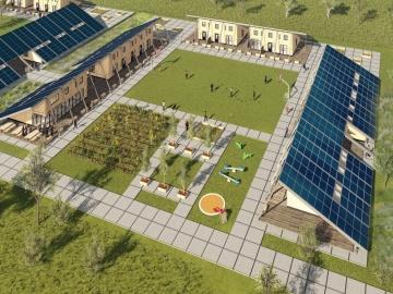ontwerp solar cabin/dak onder de zon