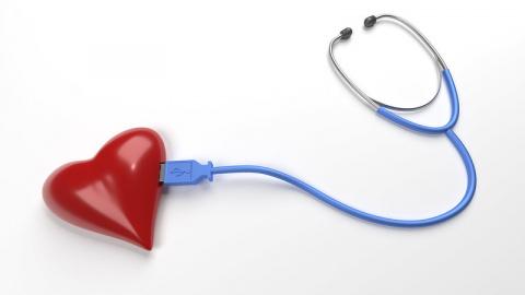 Een hartje en een stethoscoop